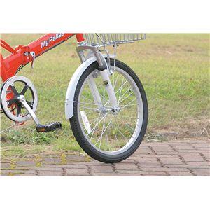 MYPALLAS(マイパラス) 折り畳み自転車 M-60 20インチ 6段変速 Wサス M-60B レッドホワイト