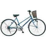 価格¥14,800(税込¥15,540)   マイパラス M-501 シティサイクル26型・6SP ブルー