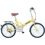 マイパラス M-27 折畳自転車20型 イエロー