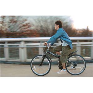 MYPALLAS(マイパラス) 折り畳み自転車 M-630 26インチ 18段変速 Wサス サテングレー (マウンテンバイク)