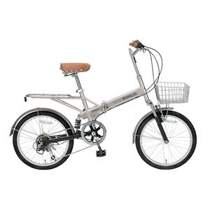 MYPALLAS(マイパラス) 折り畳み自転車 M-60B 20インチ 6段変速 Wサス シャンパン - 拡大画像