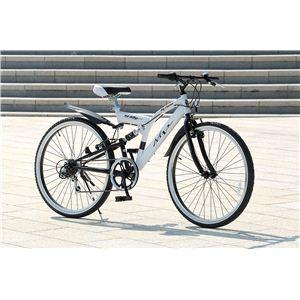 MYPALLAS(マイパラス) 自転車 M-650-2 26インチ 6段変速 リアサス TypeII ホワイト 【クロスバイク】2