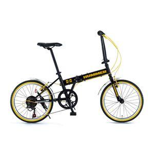 HUMMER(ハマー) 折り畳み自転車 20インチ FDB207 ブラック - 拡大画像