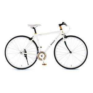 RENAULT(ルノー) 自転車 700C CRB700C Single ホワイト 【タウンバイク】