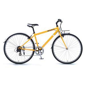 RENAULT(ルノー)自転車 700C CRB7006 オレンジ 【フロントキャリアー クロスバイク】 - 拡大画像