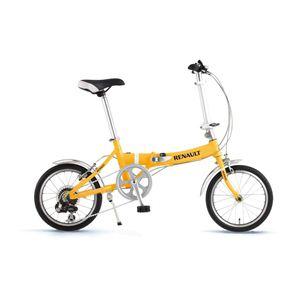 RENAULT(ルノー) 折り畳み自転車 16インチ AL-FDB166 オレンジ 【フォールディングバイク】