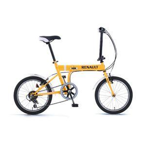 RENAULT(ルノー) 折り畳み自転車18インチ FDB186オレンジ 【フォールディングバイク】