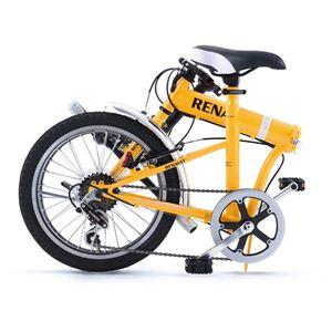 RENAULT(ルノー) 折り畳み自転車 18インチ FDB186 オレンジ 【フォールディングバイク】