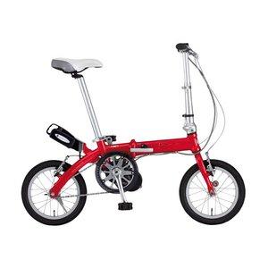 【送料無料】 FIAT(フィアット) 500 AL-FDB140アシスト 14インチ 折畳自転車 レッド
