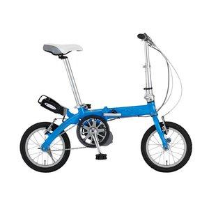 【送料無料】 FIAT(フィアット) 500 AL-FDB140アシスト 14インチ 折畳自転車 ブルー