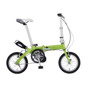 【送料無料】 FIAT(フィアット) 500 AL-FDB140アシスト 14インチ 折畳自転車 グリーン