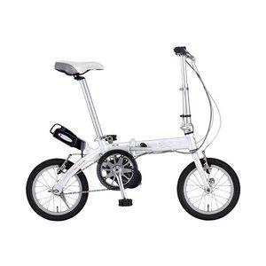 【送料無料】 FIAT(フィアット) 500 AL-FDB140アシスト 14インチ 折畳自転車 ホワイト