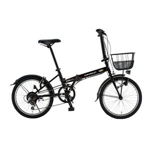 【送料無料】 CHEVY(シボレー) FDB206 EX 20インチ 折畳自転車 6段変速 ブラック