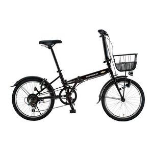 CHEVY(シボレー) FDB206 EX 20インチ 折畳自転車 6段変速 ブラック - 拡大画像