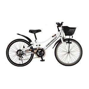 CHEVY(シボレー) CTB226 22インチ 自転車 6段変速 ホワイト - 拡大画像