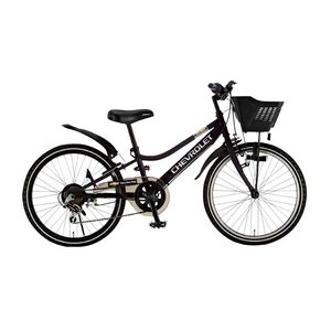 CHEVY(シボレー) CTB246 24インチ 自転車 6段変速 ブラック - 拡大画像