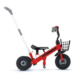 HUMMER(ハマー) Tricycle 折畳自転車 レッド - 拡大画像