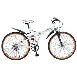 MYPALLAS(マイパラス) 折り畳み自転車 M-670 26インチ 6段変速Wサス ホワイト - 拡大画像
