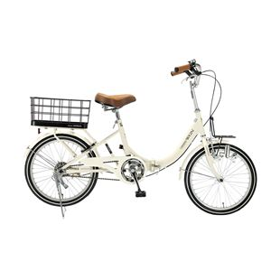 MYPALLAS(マイパラス) 折り畳み自転車 M-700 20インチ キャリッジワゴン アイボリー - 拡大画像