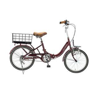 【送料無料】 MYPALLAS(マイパラス) 折り畳み自転車 M-700 20インチ キャリッジワゴン ブラウン