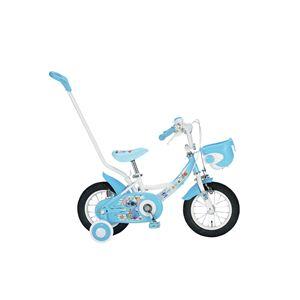 ディズニー子供用自転車12インチ 補助輪&押棒付 スティッチ - 拡大画像