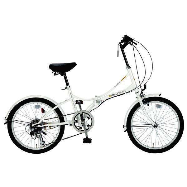 MYPALLAS(マイパラス) 折りたたみ自転車 SC-08 20インチ 6段変速ホワイト(W)
