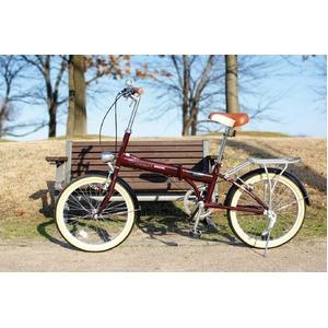 MYPALLAS(マイパラス) 折り畳み自転車 20インチ M-240 ライト付 ブラウン M-240BR ブラウン - 拡大画像