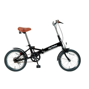【送料無料】 MYPALLAS(マイパラス) 折り畳み自転車 16インチ M-101BK ブラック