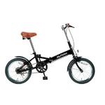 MYPALLAS(マイパラス) 折り畳み自転車 16インチ M-101BK ブラック