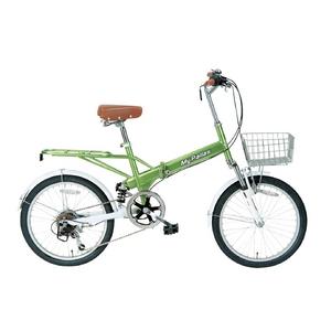 MYPALLAS(マイパラス) 折り畳み自転車 20インチ 6段Wサス M-60BGR ライトグリーン - 拡大画像