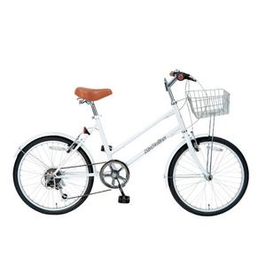 MYPALLAS(マイパラス) 自転車 S-サイクル 20インチ 6段ギア M-702 ホワイト - 拡大画像