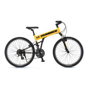 HUMMER(ハマー) 自転車 AL-ATB261 26インチ MB イエロー(簡易工具セット付き) 【マウンテンバイク】