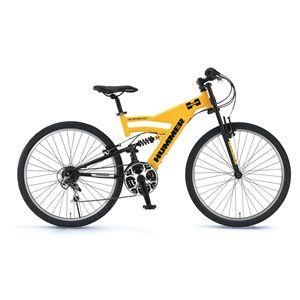 HUMMER(ハマー) 自転車 AL-ATB268 DH 26インチ イエロー 【マウンテンバイク】 - 拡大画像