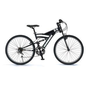 HUMMER(ハマー) 自転車 AL-ATB268 26インチ DH ブラック(簡易工具セット付き) 【マウンテンバイク】 - 拡大画像