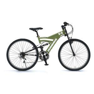 HUMMER(ハマー) 自転車 AL-ATB268 DH 26インチ グリーン 【マウンテンバイク】 - 拡大画像