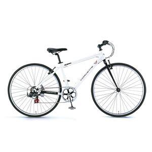 CORVETTE(コルベット) 自転車 AL-CRB7007 N 700×32C ホワイト(簡易工具セット付き)