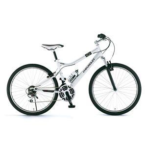 CHEVY(シボレー) 自転車 LOOP ATB 268 F-sus 26インチ ホワイト(簡易工具セット付き) 【マウンテンバイク】