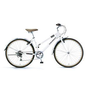 CHEVY 自転車 CRB 266 N ホワイト(簡易工具セット付き)