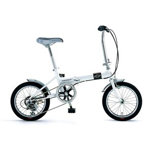 CHEVY(シボレー) 折り畳み自転車 FDB 166 16インチ ホワイト - 拡大画像