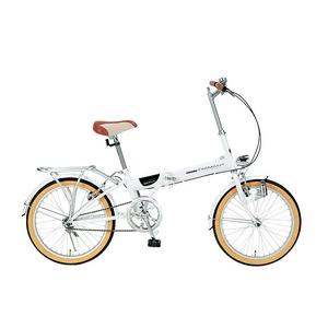 【送料無料】 MYPALLAS(マイパラス) 自転車 折畳自転車 20インチ M-240 ホワイト ライト付