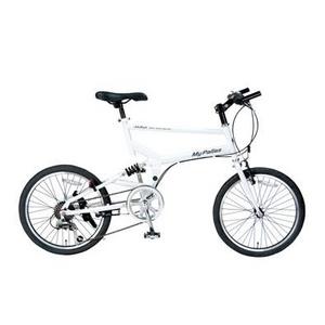 MYPALLAS(マイパラス) 自転車 S-サイクル 20インチ 6段変速 M-705 ホワイト - 拡大画像