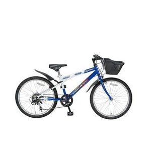MYPALLAS(マイパラス) 子供用自転車 M-707 22インチ 6段変速 子供用 ブルーホワイト(マウンテンバイク) - 拡大画像