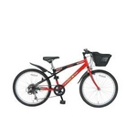 MYPALLAS(マイパラス) 子供用自転車 M-707 22インチ 6段変速 子供用 レッドブラック 【マウンテンバイク】