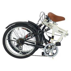 MYPALLAS(マイパラス) 折畳自転車 SC-07IV アイボリー 20インチ 6段変速 リアサス - 拡大画像