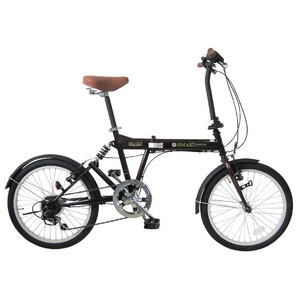 【送料無料】 MYPALLAS(マイパラス) 折畳自転車 SC-07EB エボニー 20インチ 6段変速 リアサス