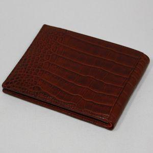 【訳アリ】BVLGARI(ブルガリ) 20315 財布 Man's wallet bills & 6CC small/ brown croco. soft - 拡大画像