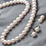 花珠本真珠(あこや真珠) 7.5-8mm パールネックレス+パールピアス 2点セット 【本真珠】