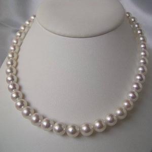 【送料無料】 和珠本真珠 9.0~9.5mm パールネックレス