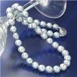あこや真珠(大珠) 8.5〜9mm ナチュラルブルーバロックパールネックレス【送料無料】