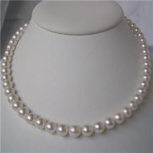 和珠本真珠 7.5~8.0mm パールネックレス&パールイヤリング